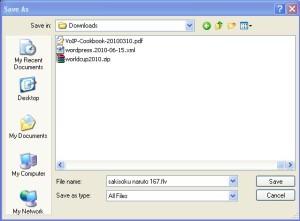 rename nama filenya dan ubah extension dari .tmp menjadi .flv